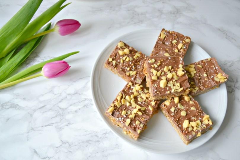 Milk chocolate & honeycomb flapjack recipe