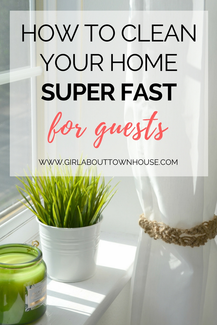 Simple tips for cleaning your home in a hurry. The perfect cleaning routine for when unexpected guests are on their way to your house and you need your home to look nice and tidy.