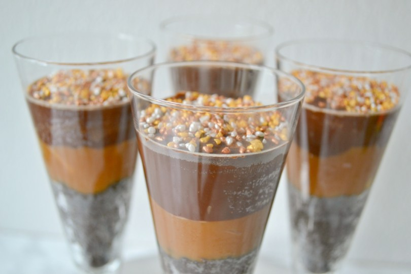 No bake desserts: Chocolate & Salted Caramel pots
