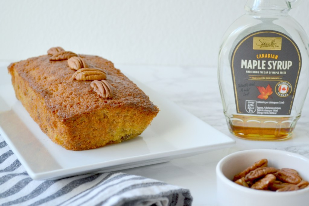 Maple pecan banana bread recipe