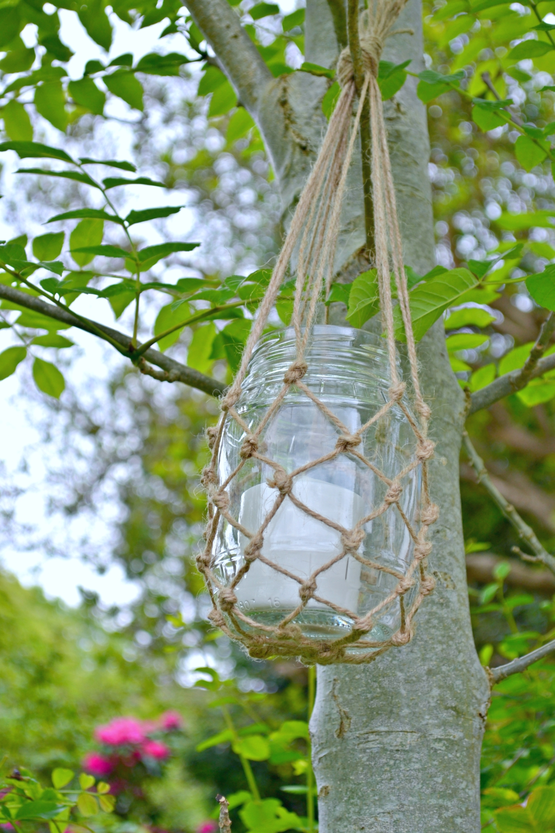 Macrame how to - hanging lantern jars