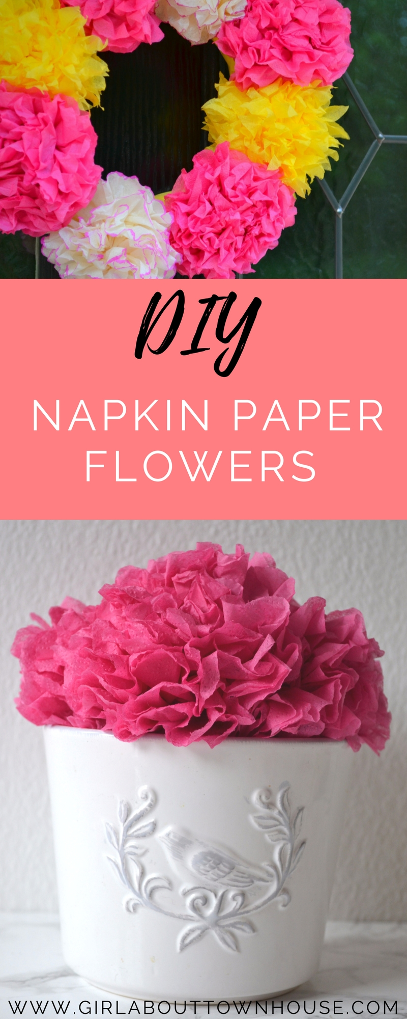 How to make paper flowers the easy way! Forget tissue paper and crepe paper - all you need is a napkin for this super simple tutorial. The perfect DIY for making wreaths and garlands for weddings, parties, celebrations or just to pretty up your place.