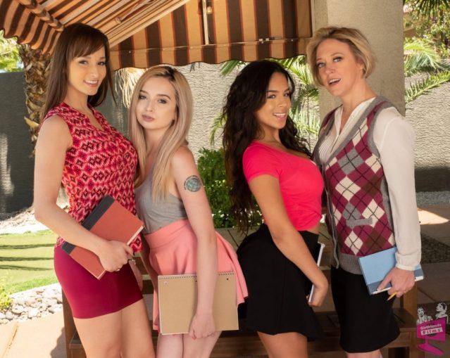 Cast of Lesbian Tutors 6 Girlfriends Films