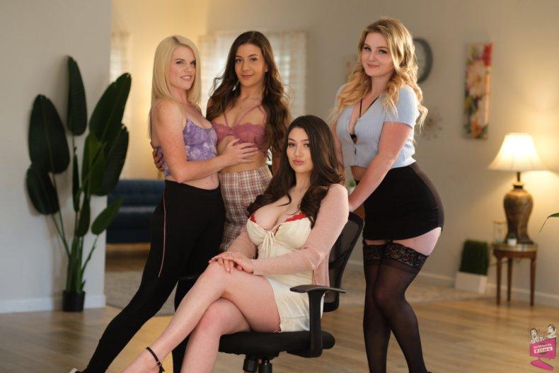 Cast of Lesbian Triangles 37 | Girlfriends Films