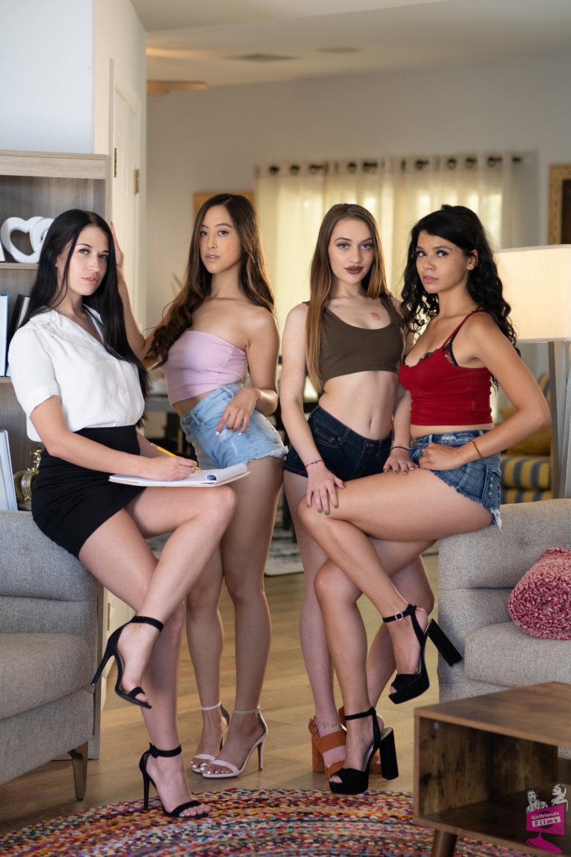 Cast of Lesbian Triangles 37   Girlfriends Films