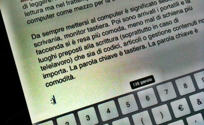 Scrivere ai tempi dell'iPad