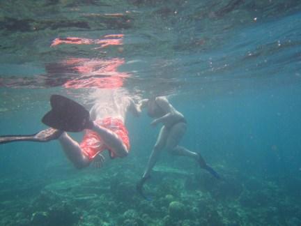Bali Honeymoon Menjangan snorkelling Arran and Claire