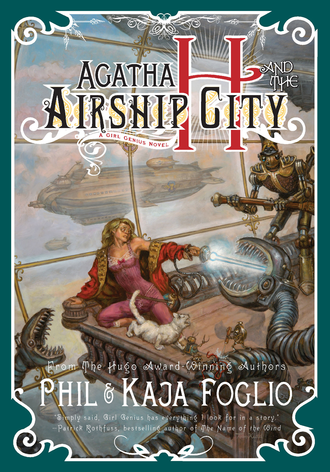 Cover of the novel 'Agatha H and the Clockwork City.'
