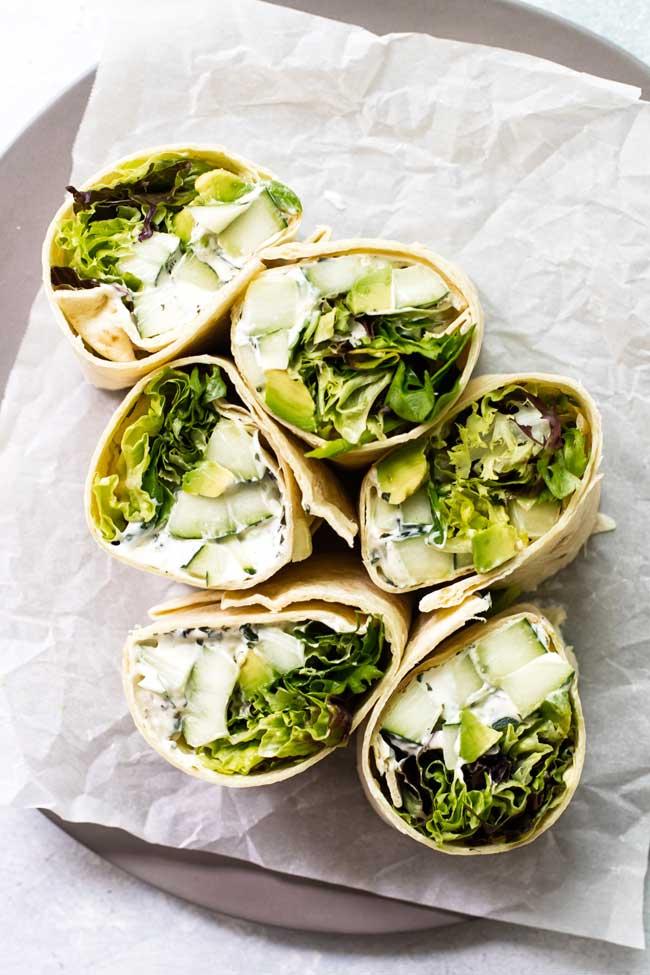 Cucumber & Avocado Wrap