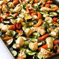 Sheet Pan Chicken Ratatouille