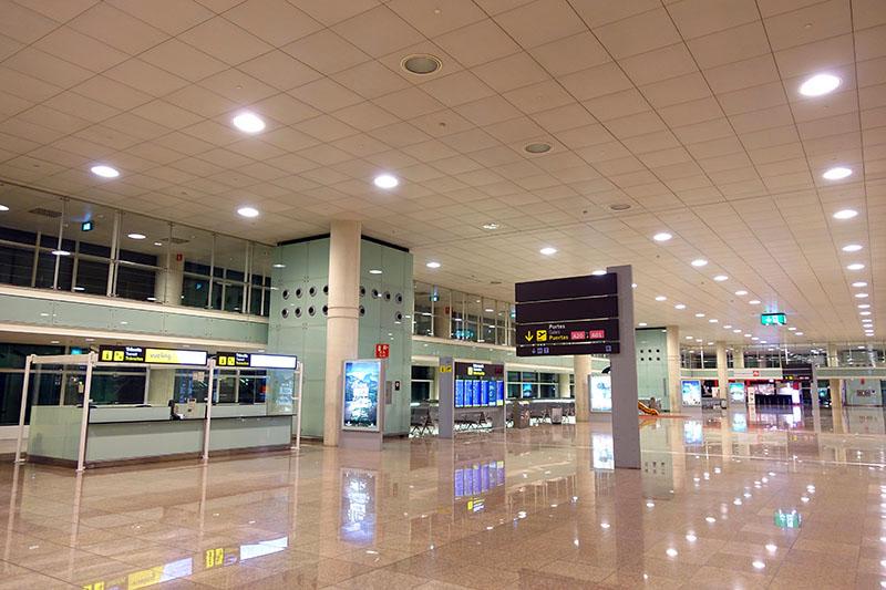 Barcelona El Prat Airport in Barcelona, Spain