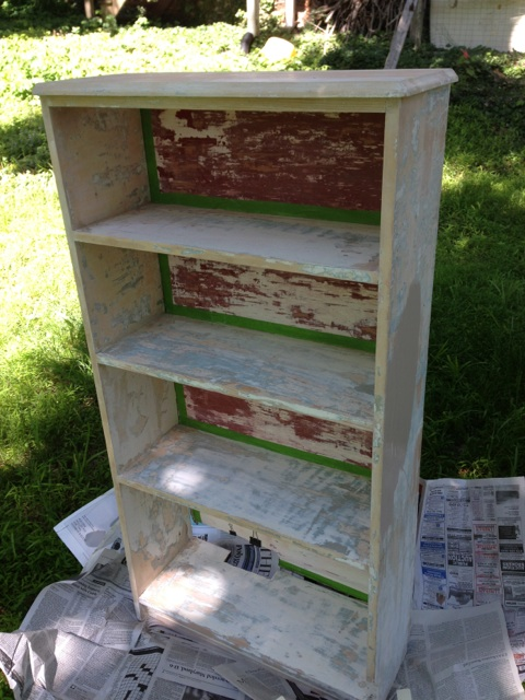 DIY Bookcase with tape