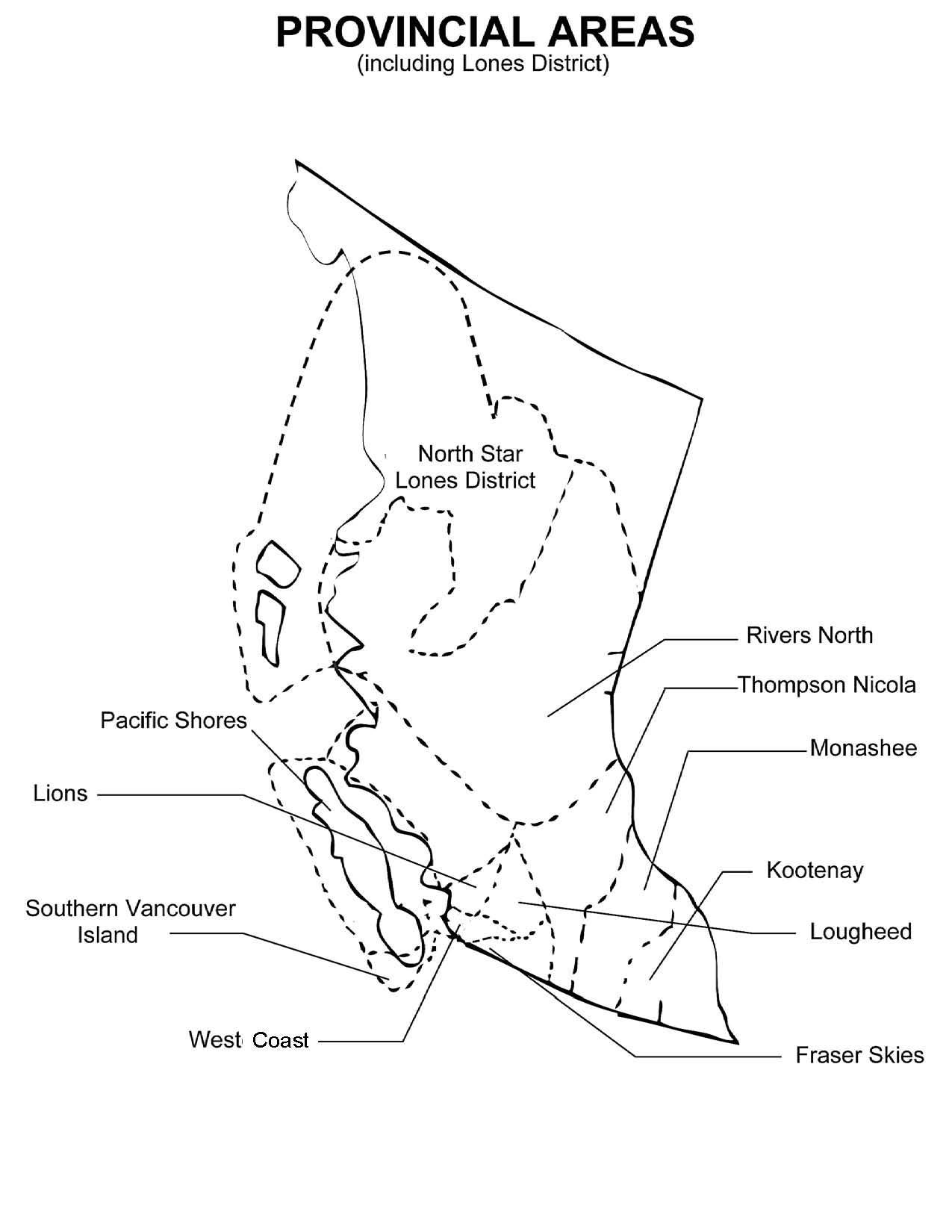 Bc Guiding Areas