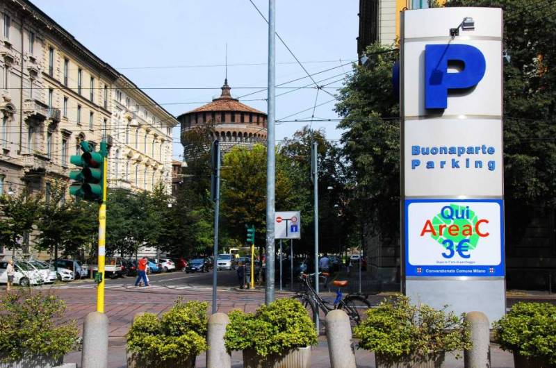 Free parking in Milan