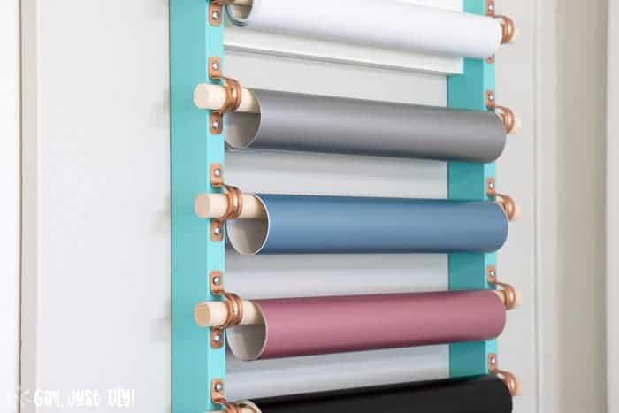 diy craft vinyl storage rack girl