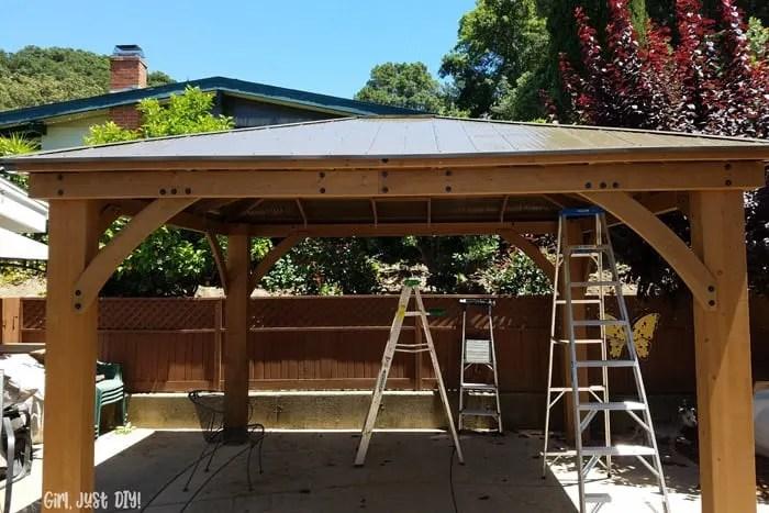 build a diy patio gazebo from a kit