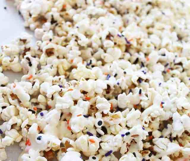 Halloween Treat White Chocolate Candy Corn Popcorn On Www Girllovesglam Com