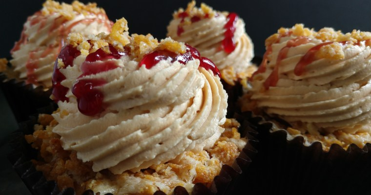 Fried Peanut Butter and Jelly Cupcakes