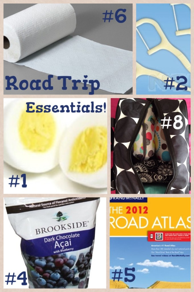 Road Trip Essentials Collage | Girl on the Move Blog