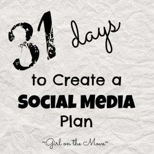 Create a Social Media plan #write31days