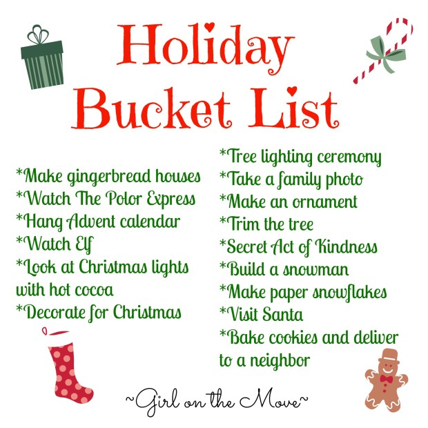 Holiday Bucket List 3 #merryblogmas