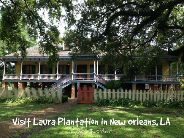 Touring the main house of Laura Plantation in New Orleans