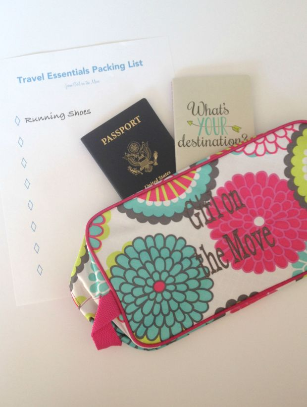 Girl on the Move's Travel Essentials packing list