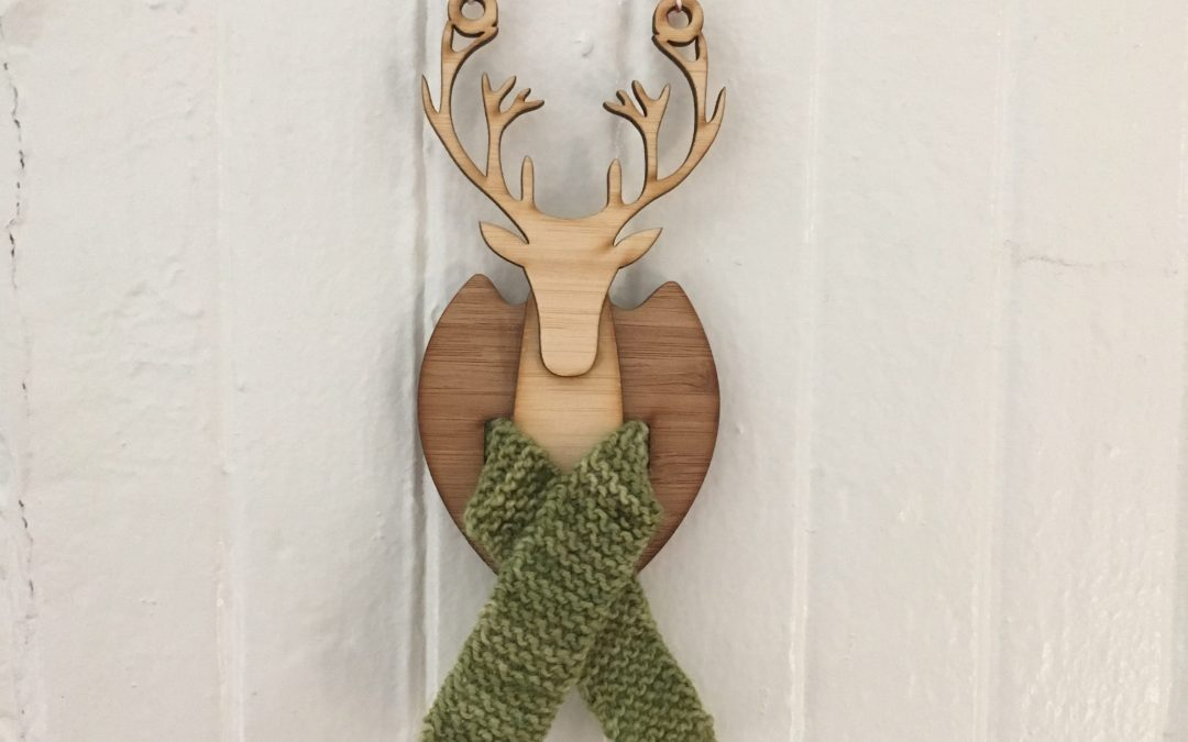 Scarf for a tiny mounted buck