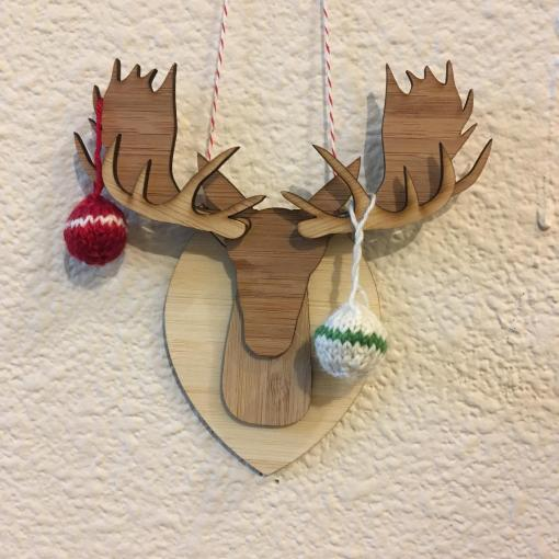 decorated moose ornament