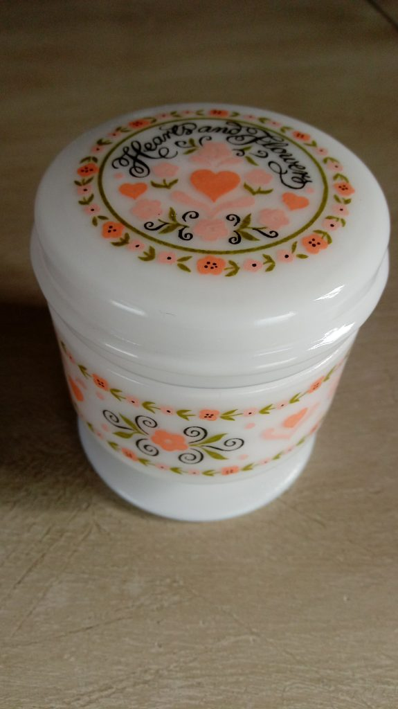 Avon Hearts and Flowers decorative jar