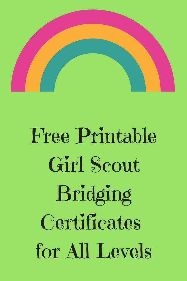 picture regarding Girl Scout Certificates Printable Free referred to as Free of charge Printable Female Scout Bridging Certificates for All