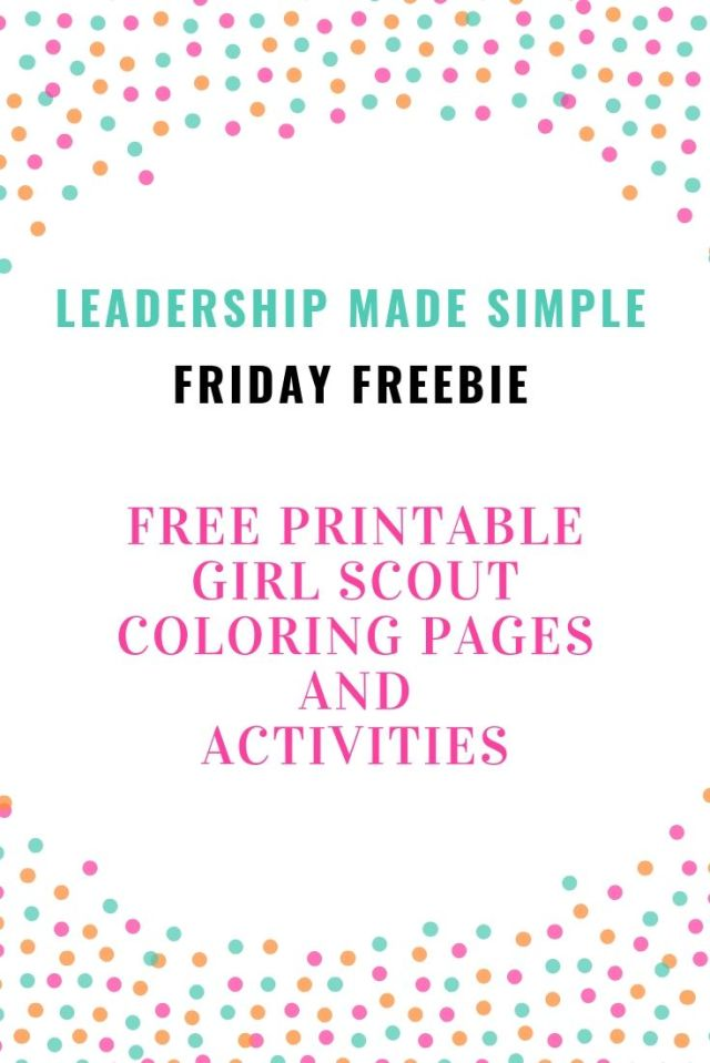 Free Girl Scout printables