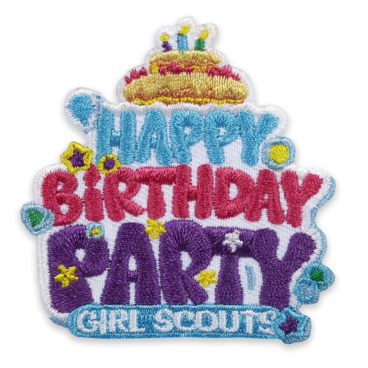 Happy Birthday Party Iron On Patch Girl Scout Shop
