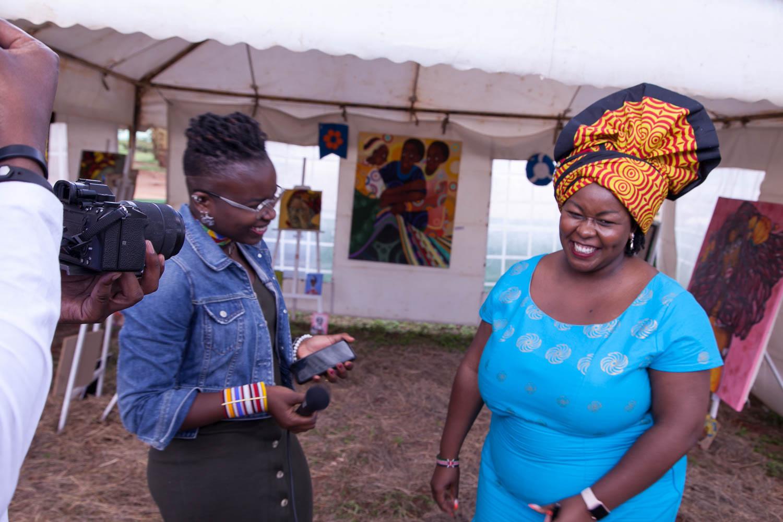 Felogene Anumo and Jade Maina talking about the Nairobi Summit on ICPD25