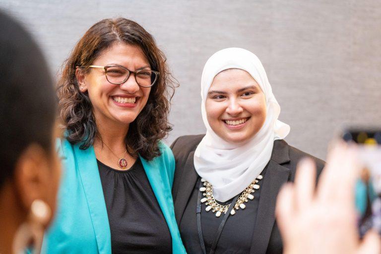Representative Rashida Tlaib and Sumaya Malas at WAND's Women at the Tables of Power Conference