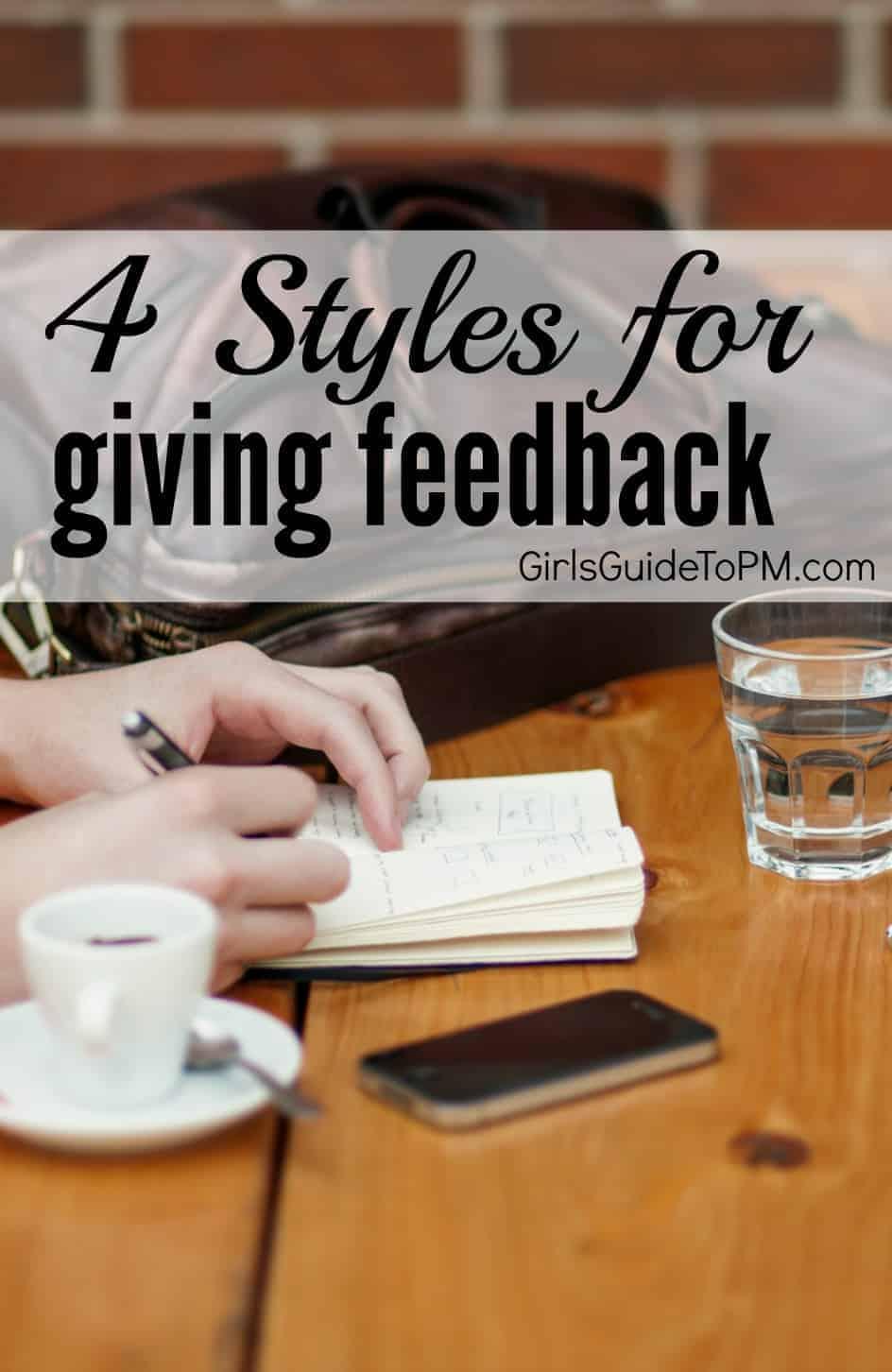 4 formas diferentes de dar retroalimentación a sus colegas y miembros del equipo. ¿Cuál funciona mejor para usted?