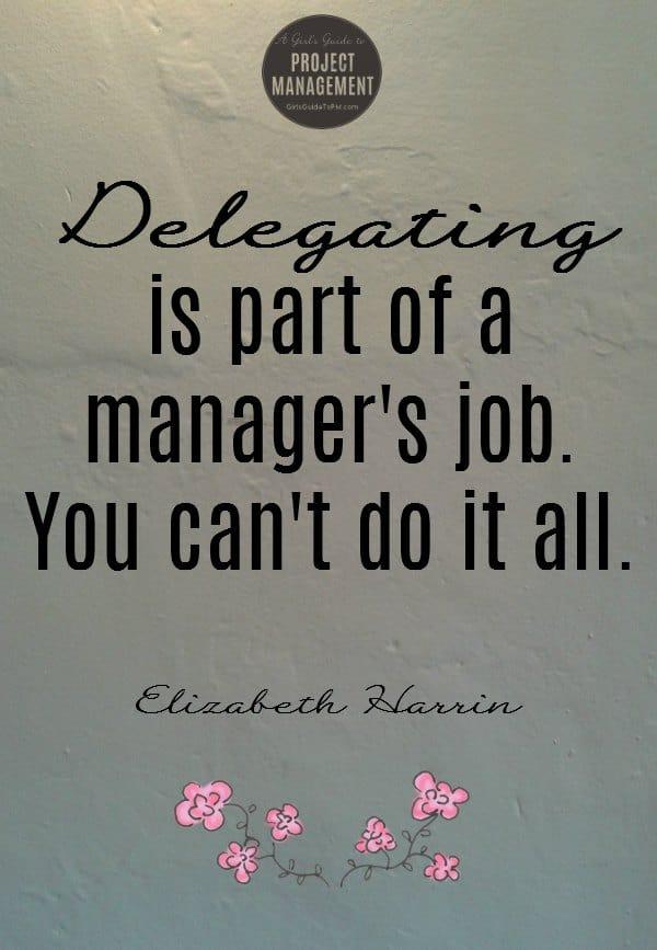 Cita sobre la delegación