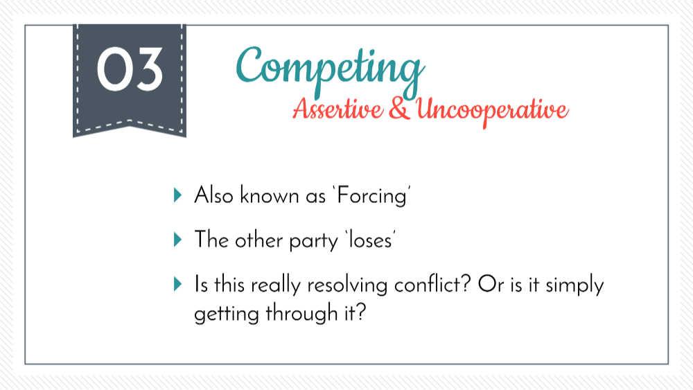 El modo de competencia en resolución de conflictos