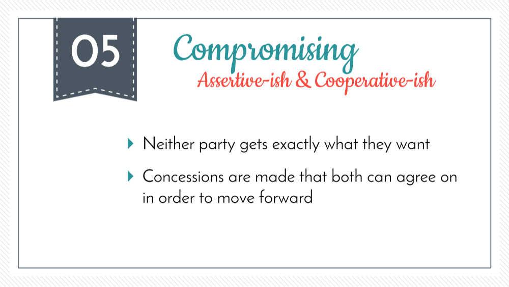 comprometer la resolución de conflictos