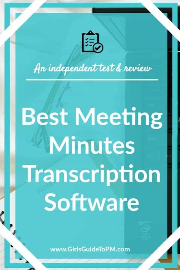 Mejor software de transcripción de minutos de reuniones