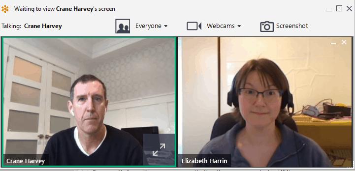 Crane Harvey, CEO de GamePlan y Elizabeth Harrin
