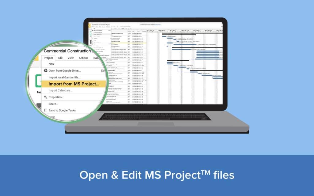 Gantter puede importar desde MS Project