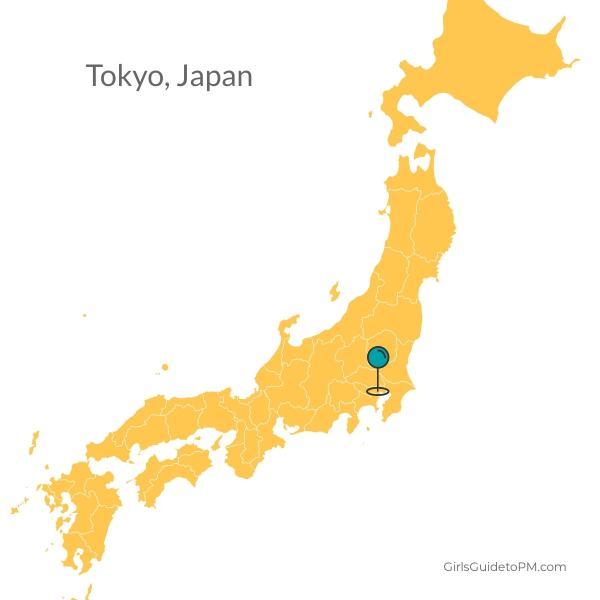 Mapa de Tokio Japón