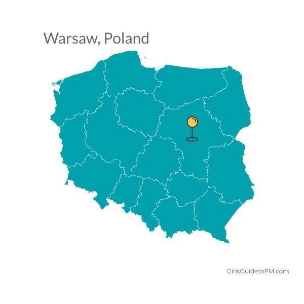 Mapa de Varsovia Polonia