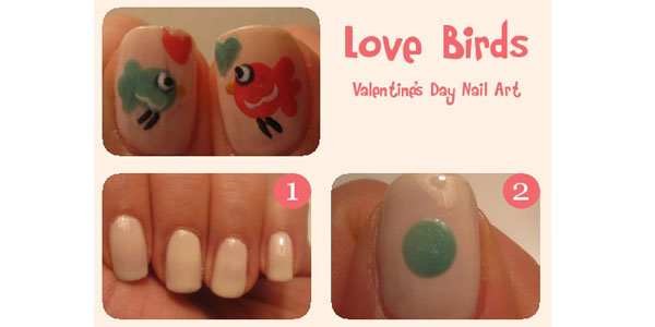 Valentine S Day Nail Art Tutorial 2017 For Love Birds Nails
