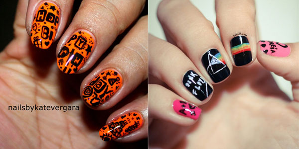 10 Awesome Happy B Day Cake Nail Art