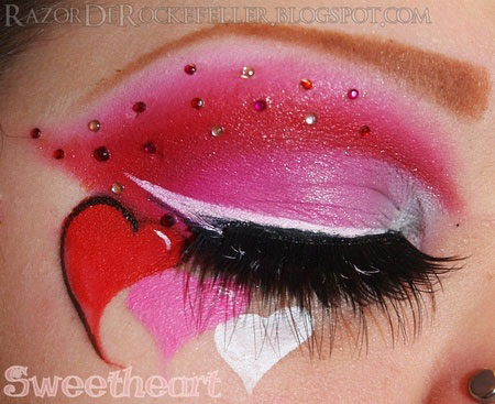 Amazing Valentines Day Eye Make Up Looks Amp Ideas 2014 For Girls Girlshue