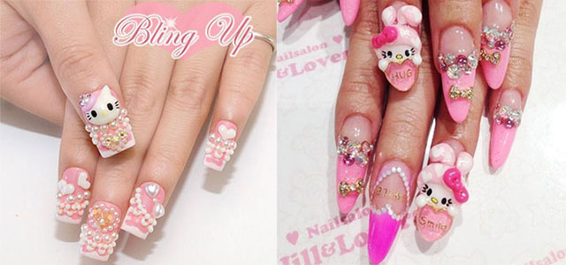 15 Cute Simple O Kitty Nail Art Designs Stickers For Beginners