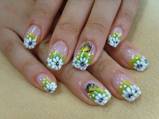 Lovely Fl Step By Nail Tutorial
