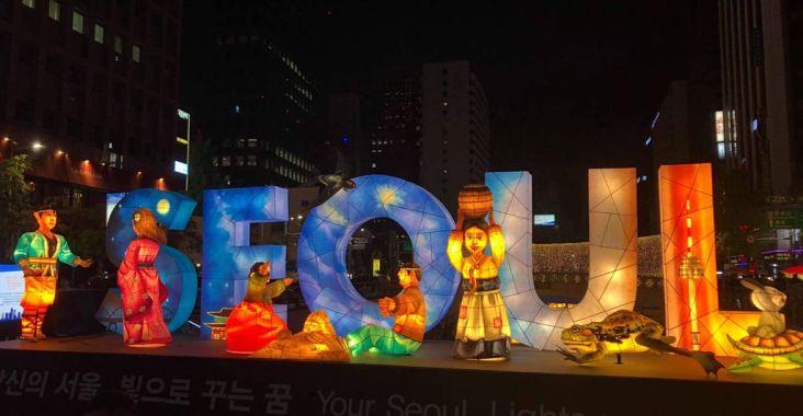 【韓國首爾景點】2019首爾燈節(2019 서울 빛초롱축제) 清溪川2019首爾燈會,綺麗的首爾之夜。 @女子的休假計劃
